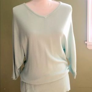 New York and co blue sweater med mint color.
